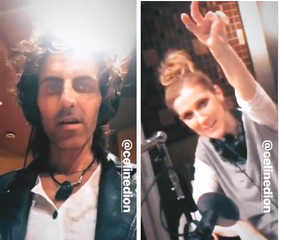 """Céline Dion porte de très hauts talons quand elle chante raconte Maty Noyes)✨👠🙌🏼 hier soir était une des nuits les plus incroyables qu'ils ont vécu tous les 3. Quel honneur. Bonnes choses à venir...."""" 😉 📸 @denisetruscello (Stephan Moccio Céline Dion Maty Noyes)"""