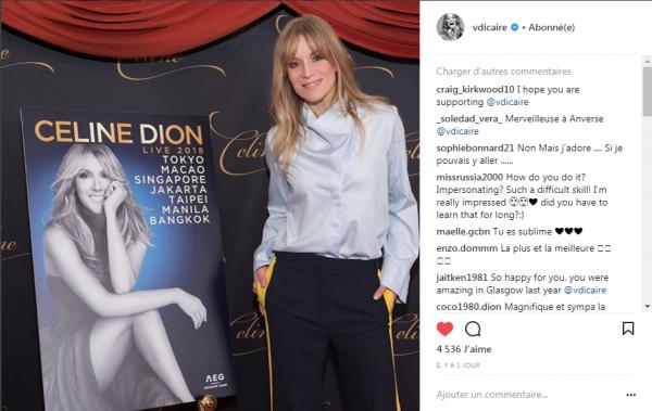 Véronic DiCaire  fera la 1ere partie de Céline en Asie :)