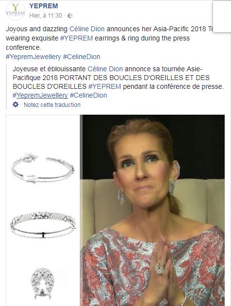 L'humour de Céline avec ses diamants ! Une sacrée pub pour LE JOAILLIE YEPREM