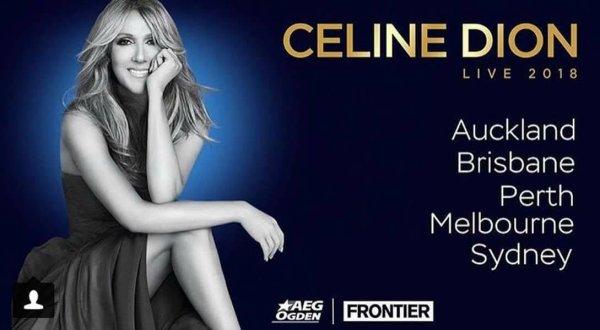 Apres l'annonce des concerts en Asie, Céline annonce des concerts en Australie !
