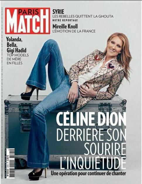 Nouvelle Une pour Céline cette semaine ! Parismatch