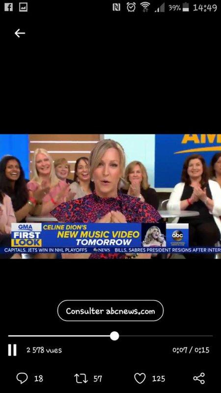 ‼️Nouvelle chanson à venir ‼️ À suivre le 3 mai - Team Céline 🤩🎉Et selon Good Morning America, un nouveau clip vidéo de Céline sera dévoilé demain!!