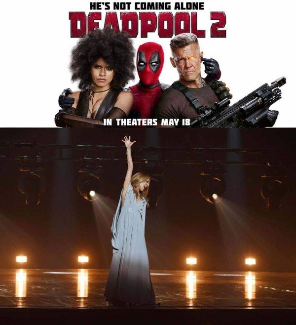 """""""Ashes"""" est le titre de la chanson de Céline qui sort demain et c'est l'une des chansons de la B.O. du film Deadpool 2 !"""