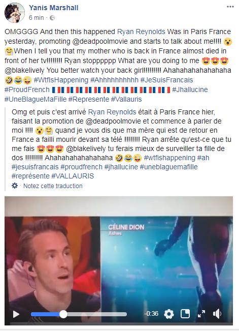 Pour LA PROMO du film  Deadpool 2 qui sort le 16 mai prochain au cinéma,  Ryan Reynolds était en France hier ! 😘