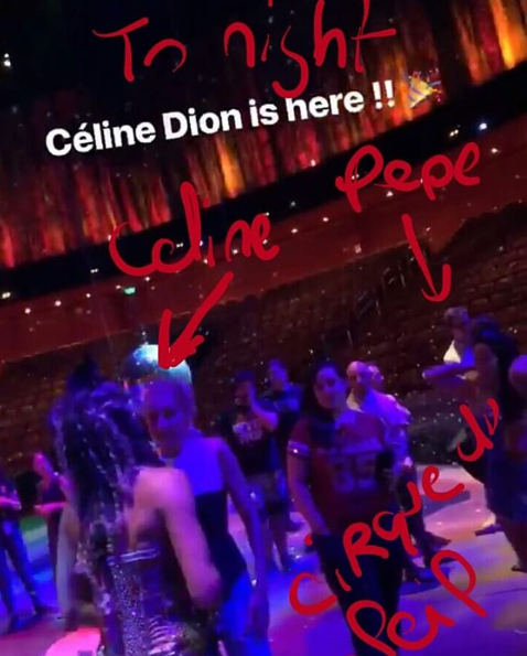 "Céline est a Macao, elle en a profité pour aller assister ce soir au spectacle de Franco Dragone ""The House of Dancing Water"""