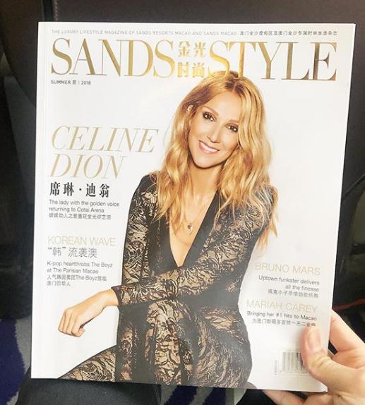 Une revue avec Céline en couverture vient de sortir à Macao