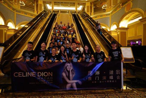 Quelques fans de Céline à Macao