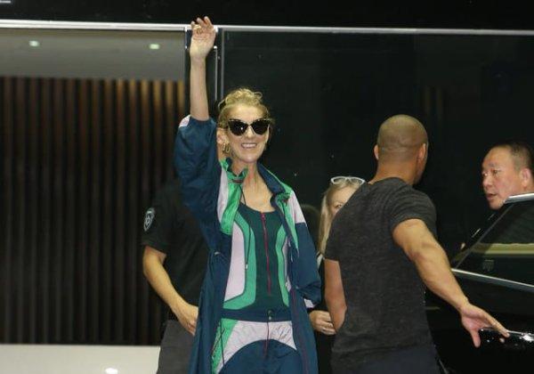 Céline Dion est arrivée à Taïwan dans un jet privé avec ses jumeaux. Prochain arrêt, les concerts de 3 jours à Taipei !