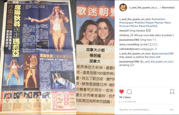 Vanessa F et Amandine D et d 'autres fans en photo sur le journal de Taipei !!!