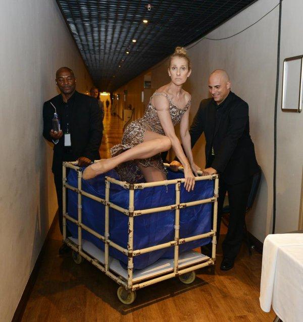 Mais que nous prépare Céline habiller ainsi ?? Une belle robe de chez jeanpaulbenielli
