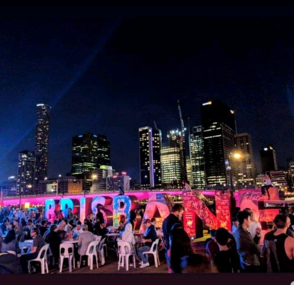 La belle ville de Brisbane, photo prise par la violoniste de Céline !
