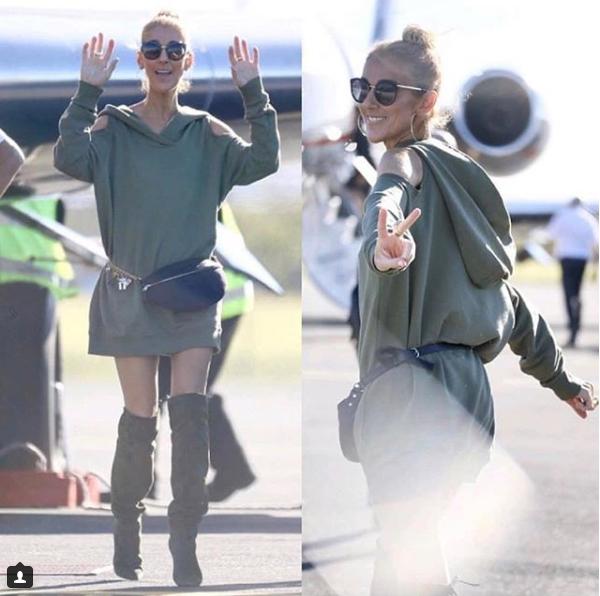 Céline vient d arriver a Brisbane pour 2 concerts le 30 et  31 juillet 2018