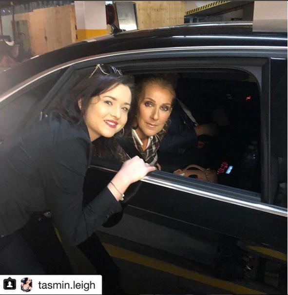Céline Dion et une fan à Brisbane avant son spectacle aujourd'hui - 31 juillet 2018.