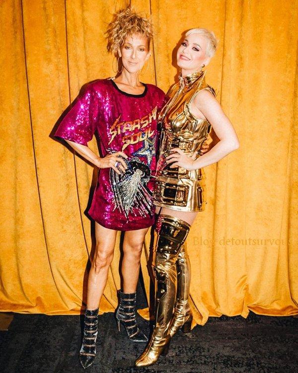 Une « California Girl » et une fille du Québec se rencontrent en Australie! Tu es la meilleure Katy Perry, merci pour ce spectacle incroyable! Je t'aime… - Céline xx…