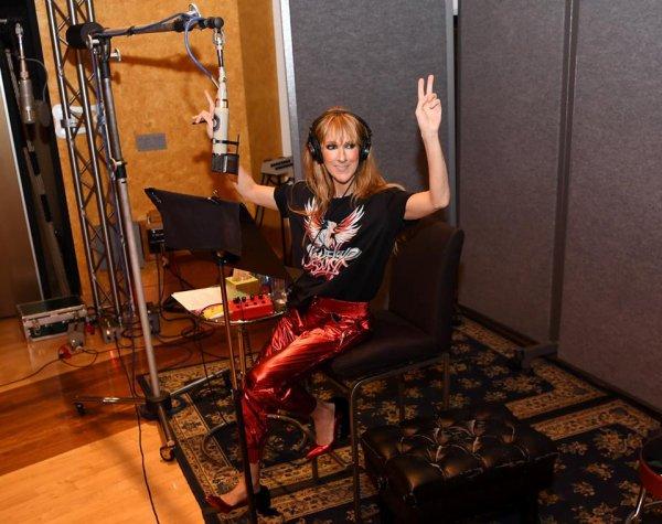 De retour en studio… et emballée d'enregistrer des nouvelles chansons ! - Céline xx…