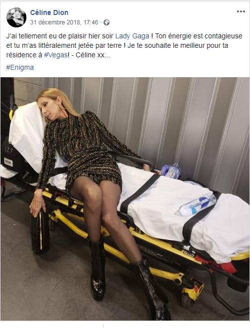 Céline est allee voir lady gaga en concert a Vegas ...