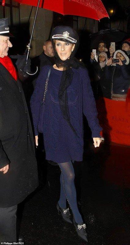 Céline Dion vue le 29 janvier 2019 à Paris