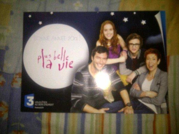 Carte de voeux de Plus Belle la Vie 2013