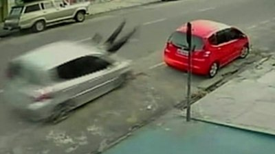 DAMMNN!! Woman Sent Flying 65ft After Being Struck By Vehicle In Brazil