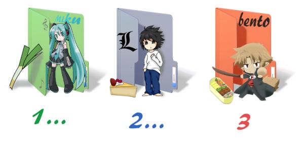1...2...3 : chibi, dossier et nourriture