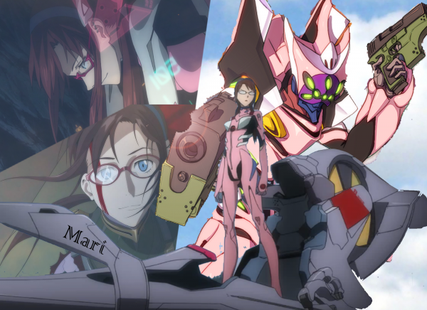 Evangelion : Asuka, Rei, Shinji et mari