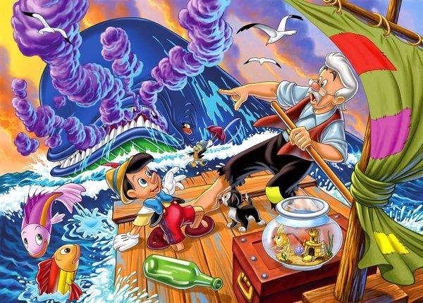 Les personnages de Pinocchio