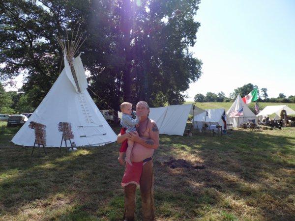 Papy avec son petit fils Andy