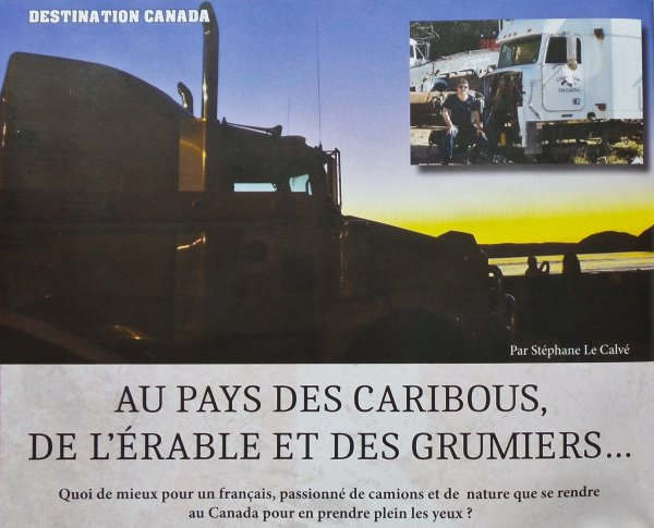 Mon reportage ,six pages dans le Trucking Style numero11...