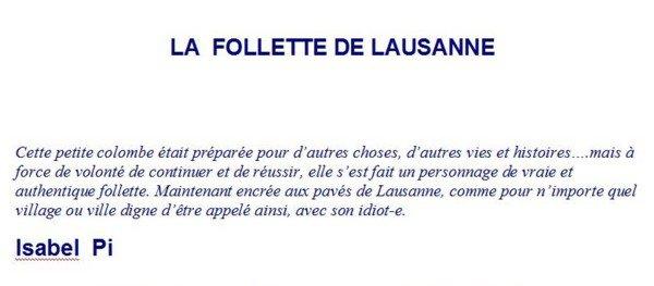 La follette de Lausanne