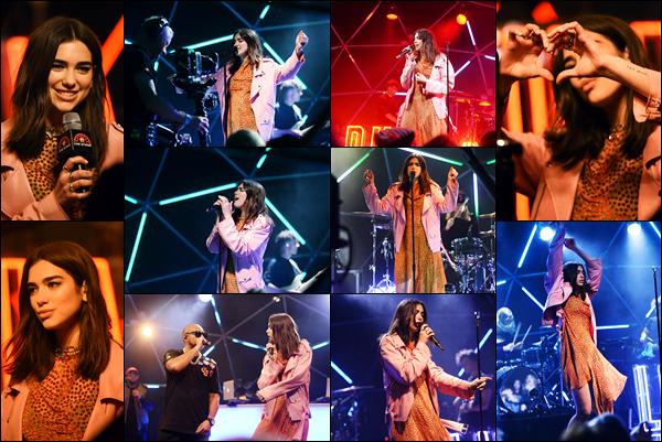 __  « MTV LIVE STAGE» _-● __   09/06/2017:  Dua Lipa   était  présente au  «MTV Live Stage» pour y pérformer dans  Londres Dua était sur  «MTV Live Stage» et y a préformé plusieurs chansons , coté tenue : j'adore l'ensemble , c'est stylé et ça lui va super bien!   __