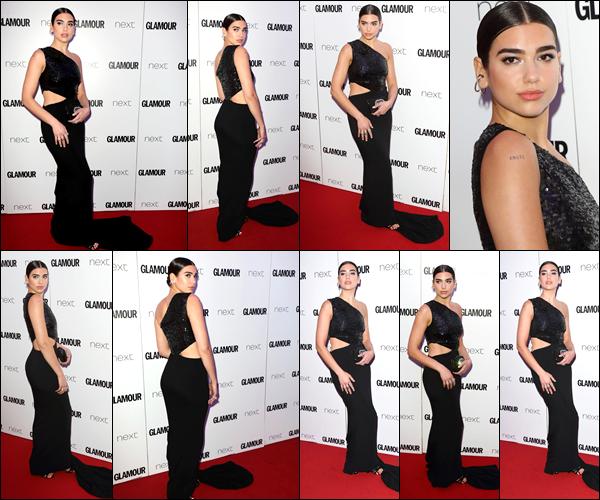 __   _● _   21/06/2017:  Dua Lipa   était  présente à l'événement   «Glamour Women of the Year Awards»   se déroulant  Londres Dua  était en effet aux  «Glamour Women of the Year Awards»   , j'aime bien sa robe , sans plus,de que même sa coiffure.Votre avis  ?    __
