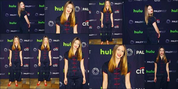 . 18:/05/17: La belle blonde  Melissa B s'est rendu au PaleyFest LA: CW's Heroes and Aliens à  Hollywood, Los Angeles!  Même si Melissa est ravissante est toujours sublime mais on aurais un pyjama pour dormir ! Un beau flop et vous vous donnerais quoi ? !