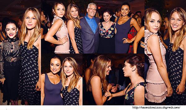 •••  EVENT Melissa était présente à l'after party des CW Network Upfront à New York City, le 18 mai 2017             Elle est chou dans cette robe même si ne pouvons pas voir sa tenue en entière. J'aime la voir les cheveux détachés.