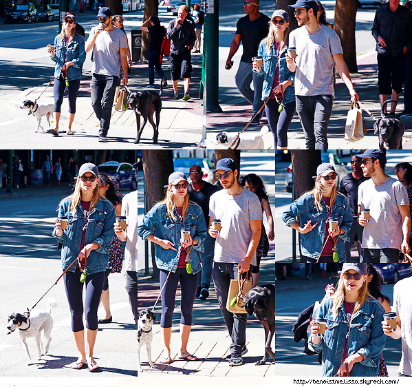 •••  CANDID Melissa et Chris ont été vu se ballant avec leurs chiens dans les rues de Vancouver,  26 août 2017                Melissa et Chris ont donc été vu avec leurs chiens lors de la National Dog Day à Vancouver en ce 26 août, ces chiens sont trop choux !