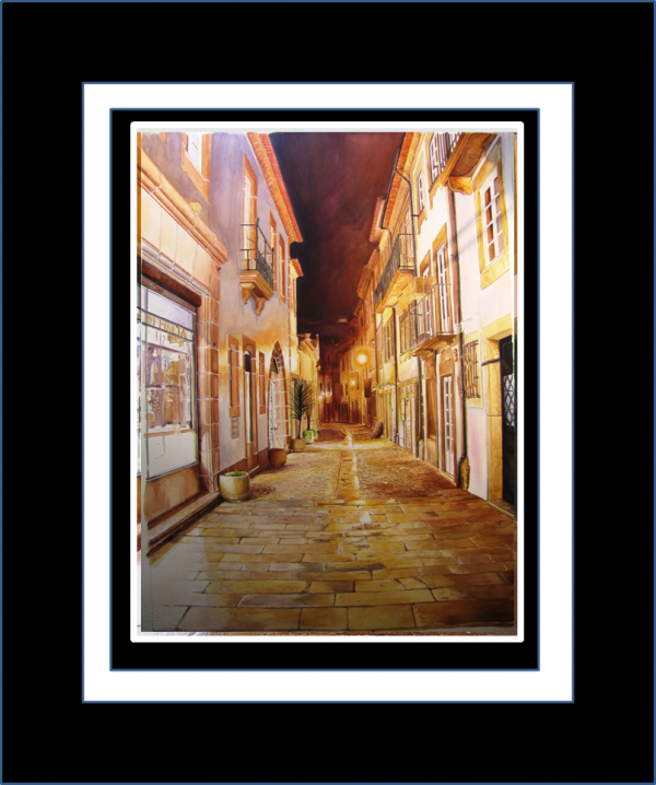 Ruelle du Portugal  Aquarelle 51 x 68