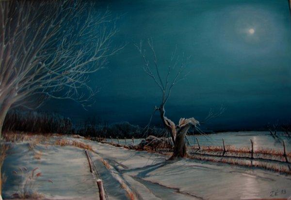 lune en hiver