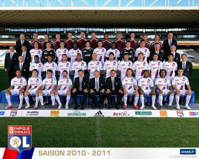 l équipe de l olympique lyonnais 2010-2011