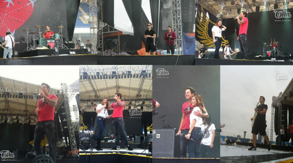 Simple Plan soundcheck avant le spectacle pour les MTV EXIT au Vietnam