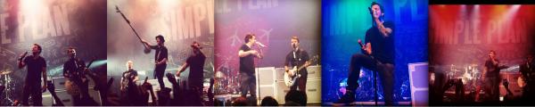 Performance de Simple Plan à Santiago