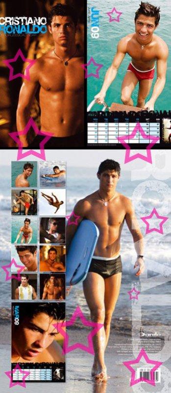 """Cristiano Ronaldo: un calendrier """"caliente"""""""