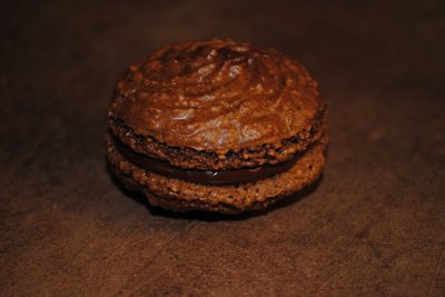 macaron pistache et chocolat que je fais