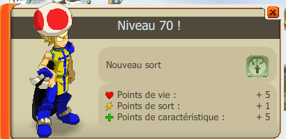 Up lv 70 ,Metier Mineur