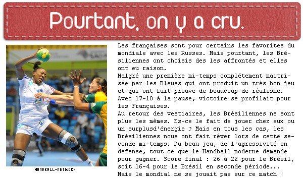 France 22-26 Brésil