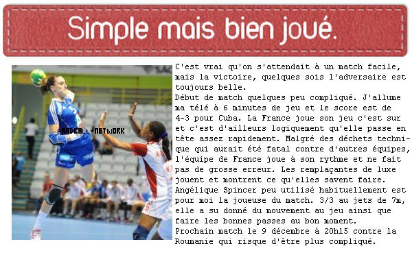 France 38-18 Cuba
