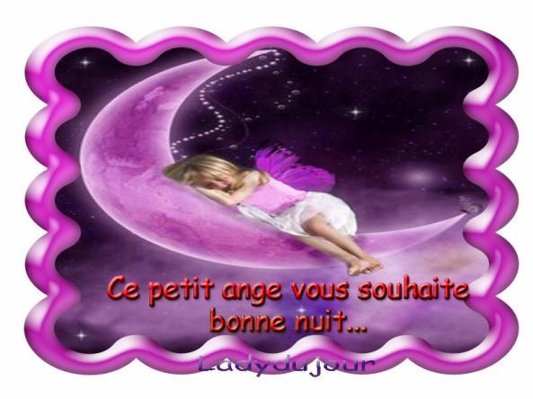Un Petit Ange Vous Souhaite Bonne Nuit Pour Le