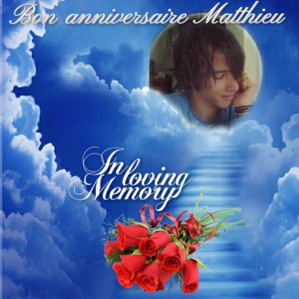 Ce 28 février tu aurais 32 ans, bon anniversaire mon fils adoré.