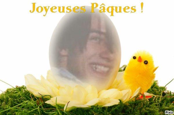 Joyeuse pâques dans ton paradis des anges.