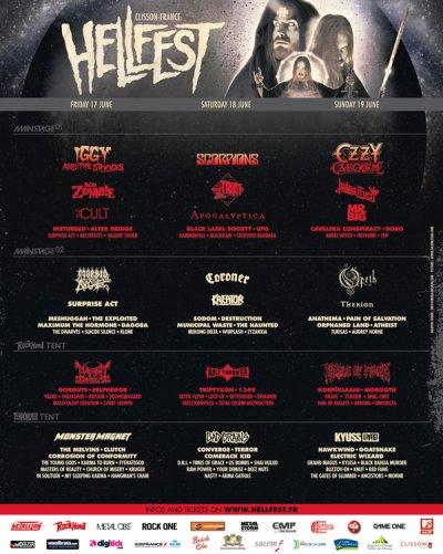affiche du Hellfest 2011