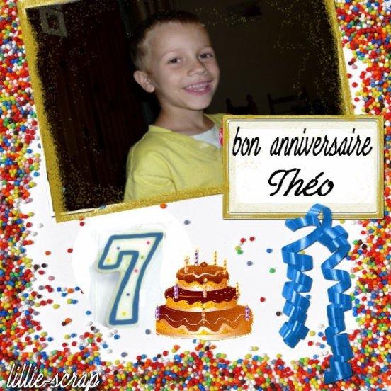 Bon anniversaire a mon grand !!!dejà 7 ans!!!!