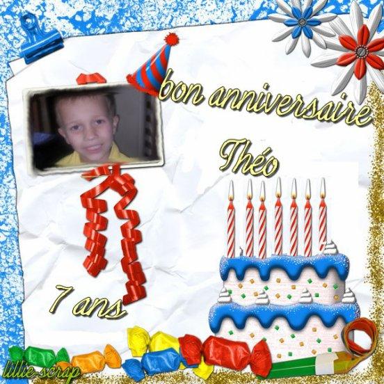 mon fils théo a 7 ans aujourd'hui!!!bon anniversaire mon loulou!!!